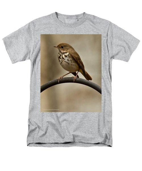 Men's T-Shirt  (Regular Fit) featuring the photograph Hermit Thrush by Robert L Jackson