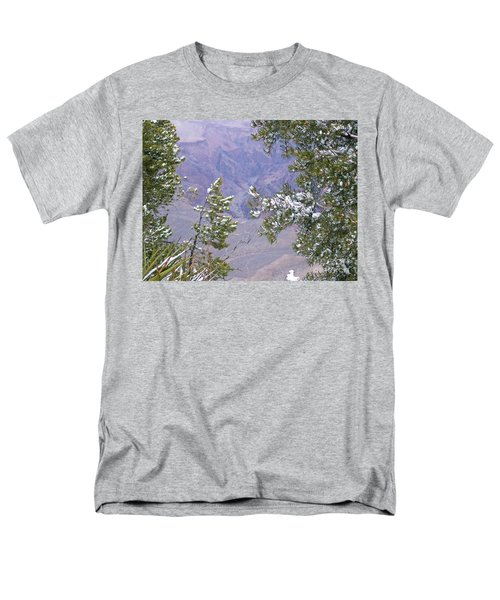 Men's T-Shirt  (Regular Fit) featuring the photograph Highlighting Snow by Roberta Byram