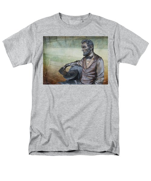 History - Abraham Lincoln Contemplates -  Luther Fine Art Men's T-Shirt  (Regular Fit) by Luther Fine Art