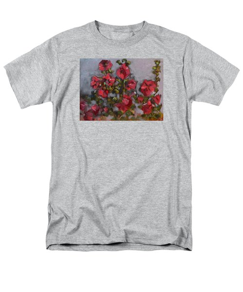 Men's T-Shirt  (Regular Fit) featuring the painting Hollyhocks by Pattie Wall