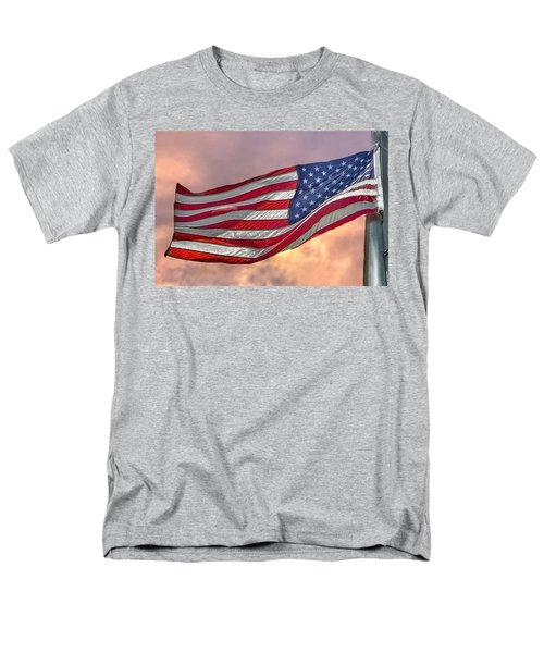 Men's T-Shirt  (Regular Fit) featuring the photograph Honoring The Heroes  by Charlotte Schafer