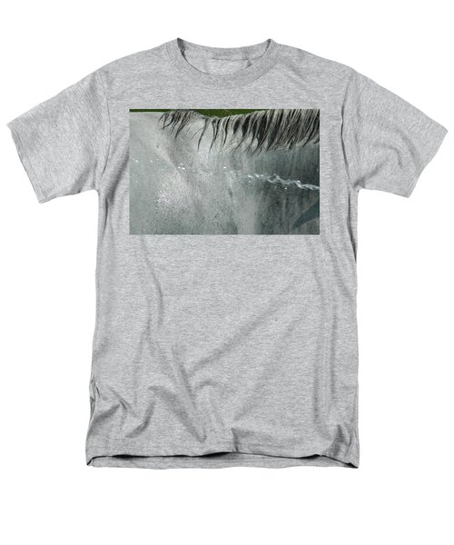 Cooling Down White Horse Men's T-Shirt  (Regular Fit) by Phil Cardamone