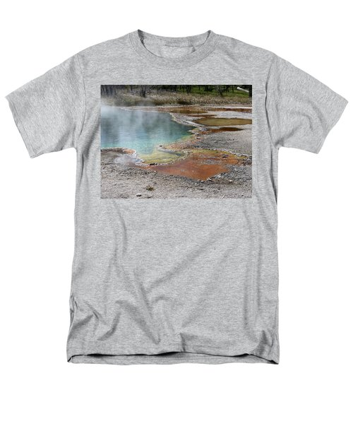 Hot Water At Yellowstone Men's T-Shirt  (Regular Fit) by Laurel Powell