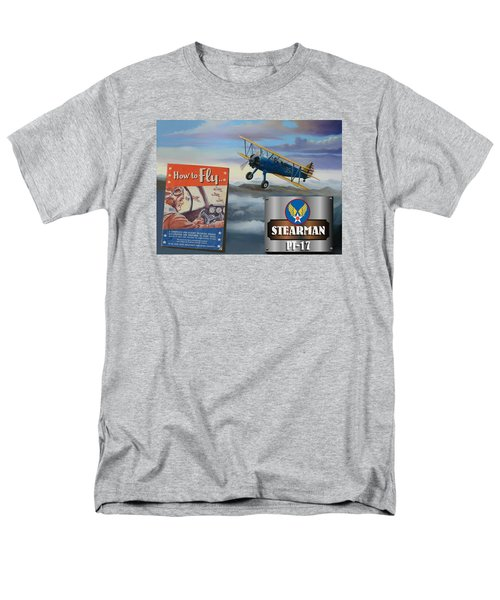 How To Fly Stearman Pt-17 Men's T-Shirt  (Regular Fit) by Stuart Swartz