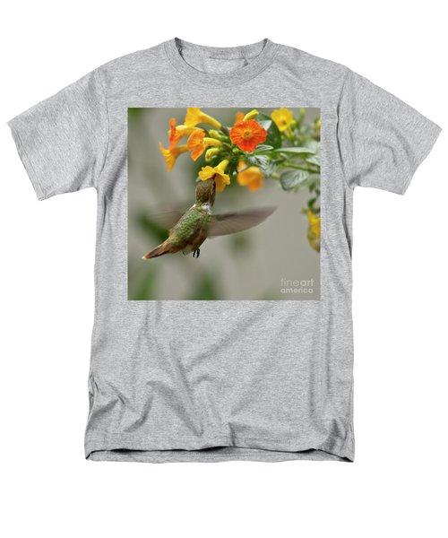 Hummingbird Sips Nectar Men's T-Shirt  (Regular Fit) by Heiko Koehrer-Wagner