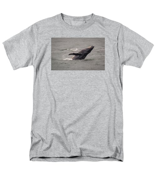 Humpback Whale Breaching Men's T-Shirt  (Regular Fit) by Janis Knight