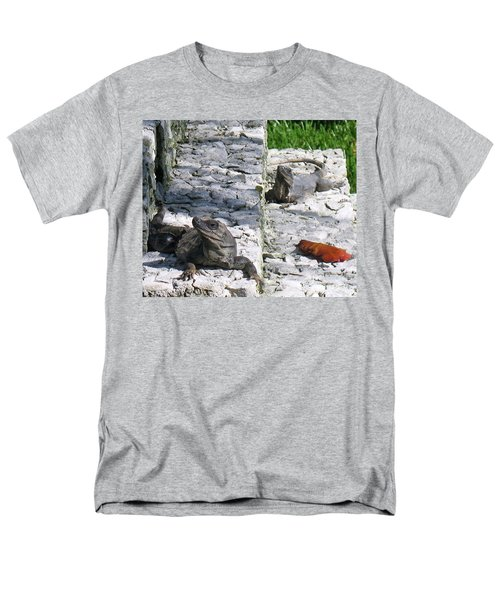 Iguana Bask In The Sun With You Men's T-Shirt  (Regular Fit) by Patti Whitten