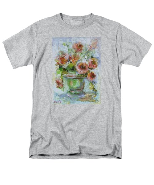 Men's T-Shirt  (Regular Fit) featuring the painting Impressionist Roses 2 by Mary Wolf