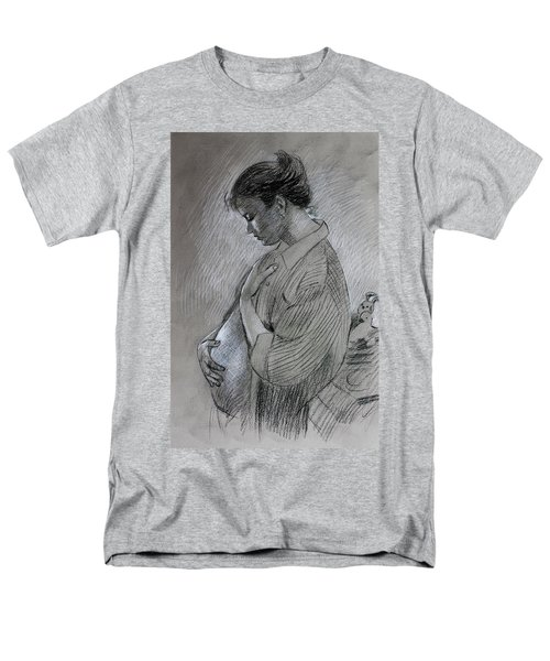 Men's T-Shirt  (Regular Fit) featuring the drawing In The Family Way by Viola El