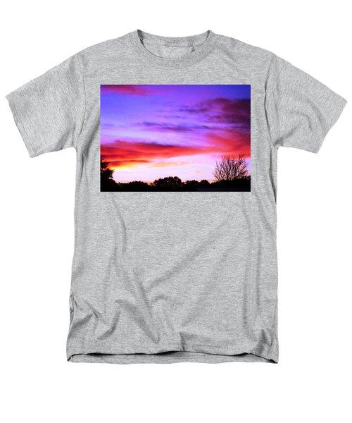 Indian Morning Sky Men's T-Shirt  (Regular Fit) by Belinda Lee