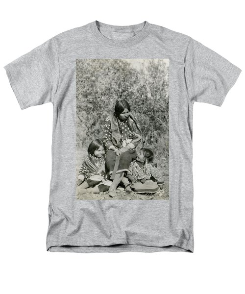 Men's T-Shirt  (Regular Fit) featuring the photograph Indian Mother With Daughters by Charles Beeler