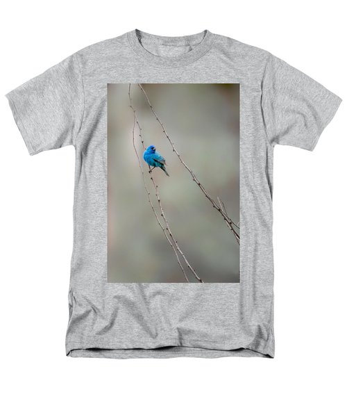 Indigo Bunting Men's T-Shirt  (Regular Fit) by Bill Wakeley