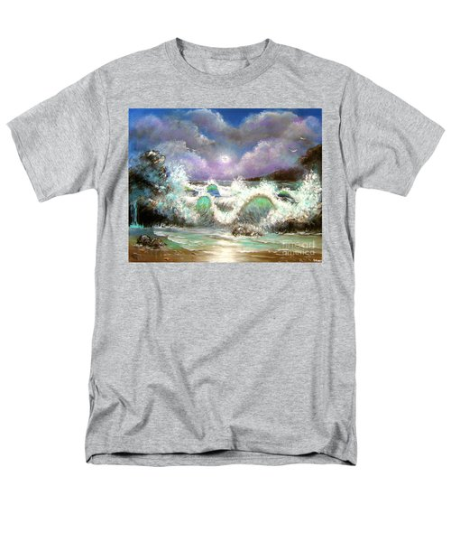 Men's T-Shirt  (Regular Fit) featuring the painting Irresistible Force  by Patrice Torrillo