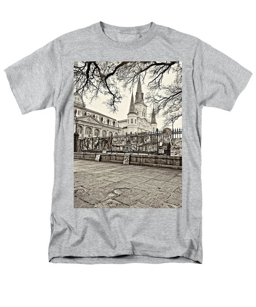 Jackson Square Winter Sepia Men's T-Shirt  (Regular Fit) by Steve Harrington