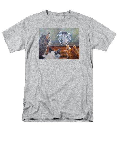 Men's T-Shirt  (Regular Fit) featuring the painting Kiss My Assssssss by Donna Tucker