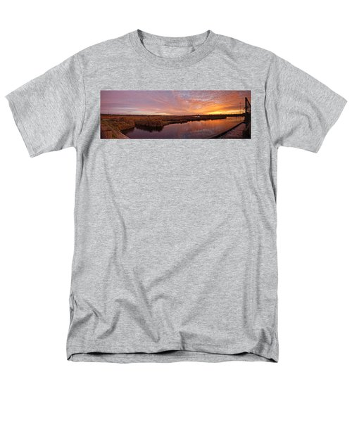 Men's T-Shirt  (Regular Fit) featuring the digital art Lake Shelby Bridge by Michael Thomas