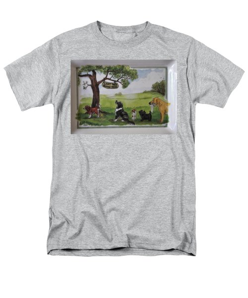 Last Tree Dogs Waiting In Line Men's T-Shirt  (Regular Fit) by Jay Milo