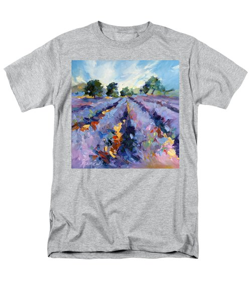 Men's T-Shirt  (Regular Fit) featuring the painting Lavender Blues by Rae Andrews