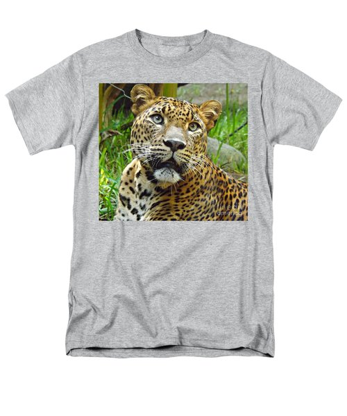Men's T-Shirt  (Regular Fit) featuring the photograph Leopard Face by Clare Bevan
