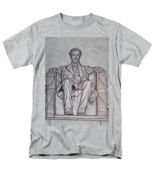 Lincoln Memorial Men's T-Shirt  (Regular Fit) by Christy Saunders Church