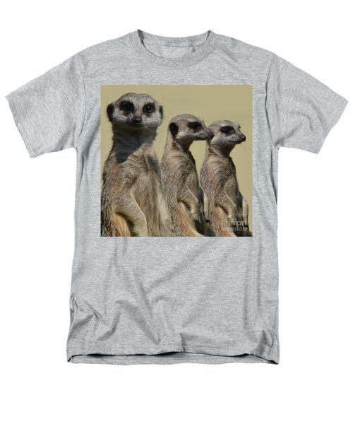 Line Dancing Meerkats Men's T-Shirt  (Regular Fit) by Paul Davenport