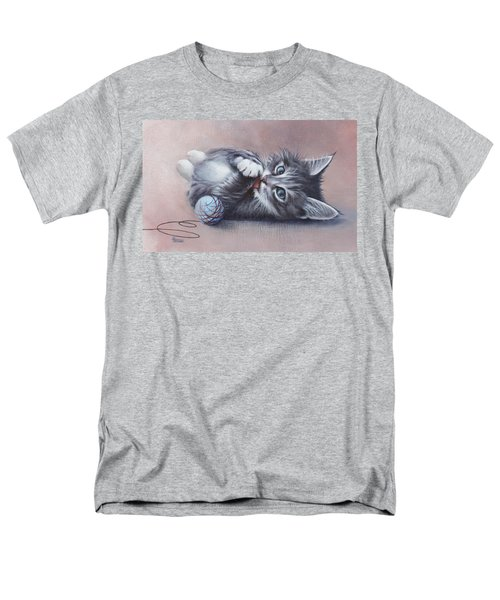 Men's T-Shirt  (Regular Fit) featuring the painting Little Mischief by Cynthia House