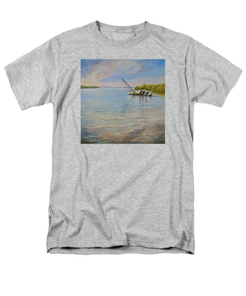 Men's T-Shirt  (Regular Fit) featuring the painting Locked by AnnaJo Vahle