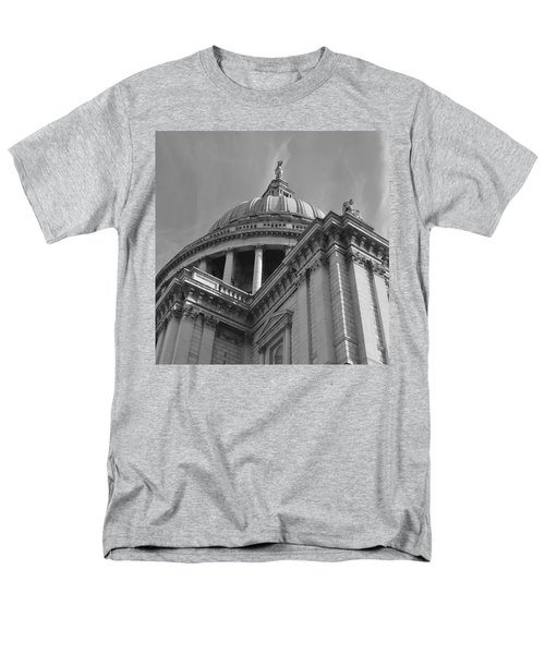 London St Pauls Cathedral Men's T-Shirt  (Regular Fit) by Cheryl Miller