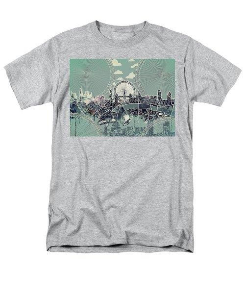 London Skyline Vintage Men's T-Shirt  (Regular Fit)