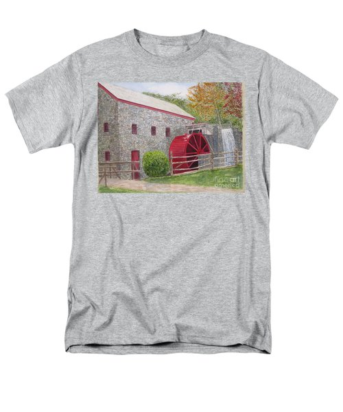 Men's T-Shirt  (Regular Fit) featuring the painting Longfellow's Gristmill by Carol Flagg
