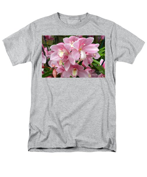 Men's T-Shirt  (Regular Fit) featuring the photograph Cymbidium Pink Orchids by Jeannie Rhode