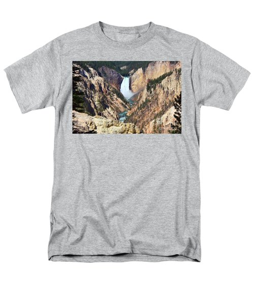 Lower Falls Yellowstone Men's T-Shirt  (Regular Fit) by Teresa Zieba