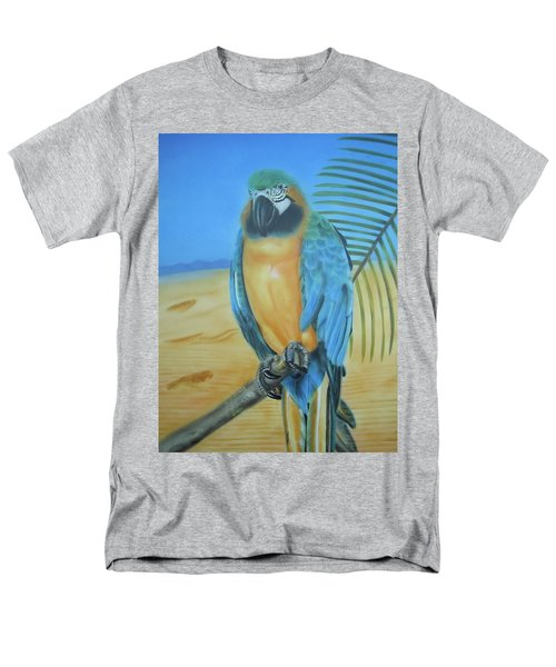 Men's T-Shirt  (Regular Fit) featuring the painting Macaw On A Limb by Thomas J Herring