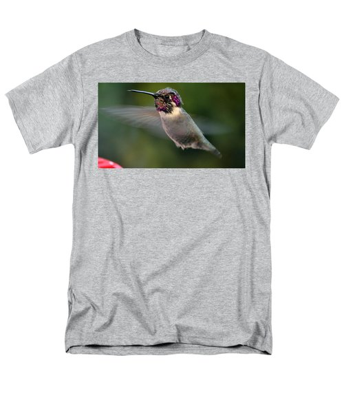 Men's T-Shirt  (Regular Fit) featuring the photograph Male Anna's In Flight by Jay Milo