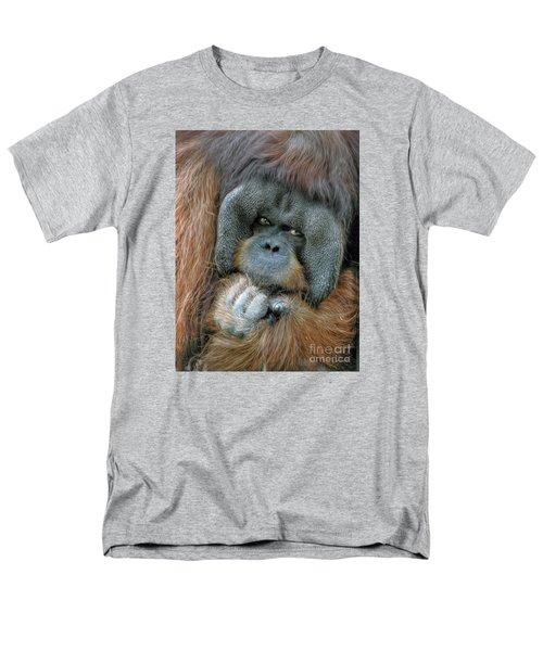 Men's T-Shirt  (Regular Fit) featuring the photograph Male Orangutan  by Savannah Gibbs
