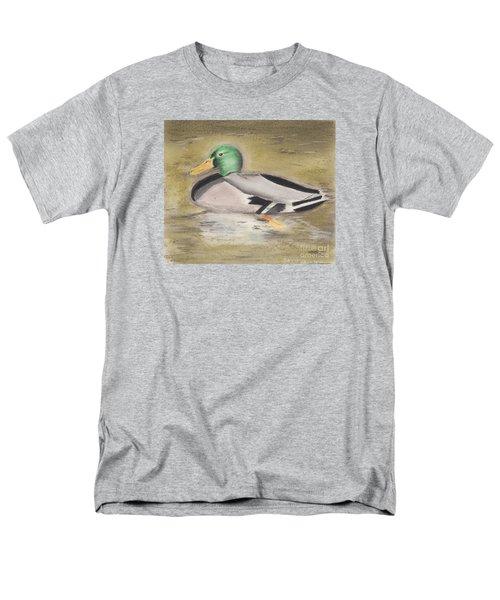Men's T-Shirt  (Regular Fit) featuring the pastel Mallard by David Jackson