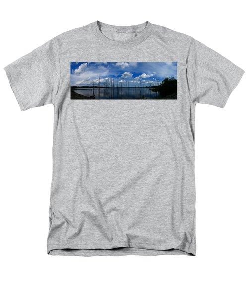 Men's T-Shirt  (Regular Fit) featuring the photograph Manasquan Reservoir Panorama by Raymond Salani III