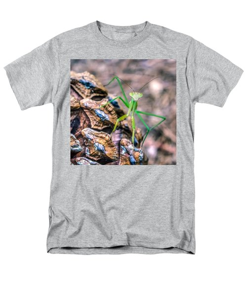Mantis On A Pine Cone Men's T-Shirt  (Regular Fit) by Rob Sellers