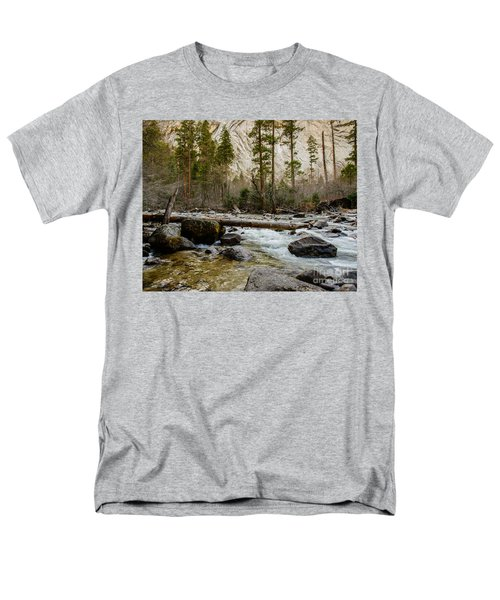 Merced River From Happy Isles 2 Men's T-Shirt  (Regular Fit) by Terry Garvin
