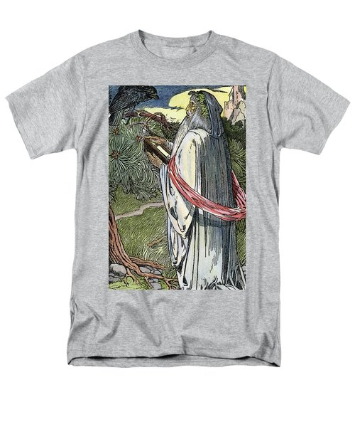 Men's T-Shirt  (Regular Fit) featuring the drawing Merlin The Magician, 1923 by Granger