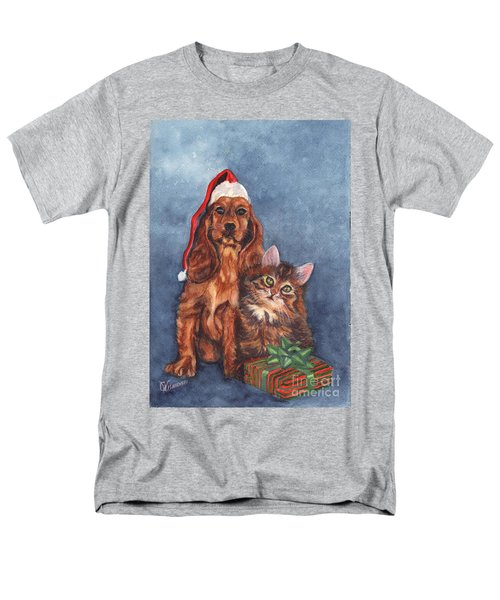 Men's T-Shirt  (Regular Fit) featuring the painting Merry Christmas by Carol Wisniewski
