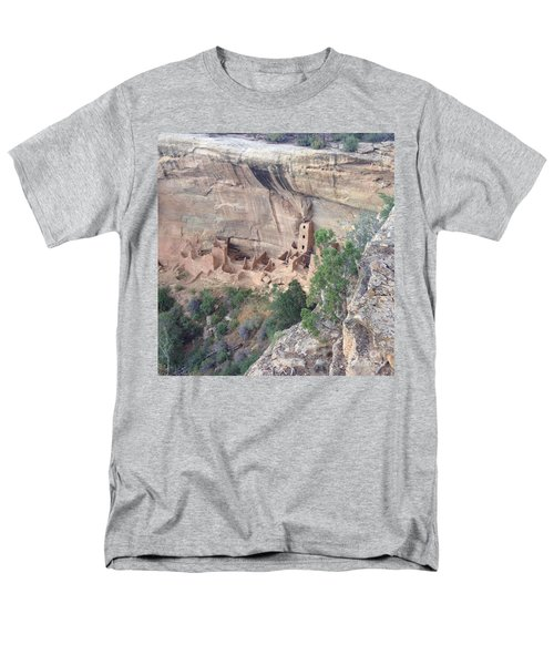 Men's T-Shirt  (Regular Fit) featuring the photograph Mesa Verde Colorado Cliff Dwellings 1 by Richard W Linford