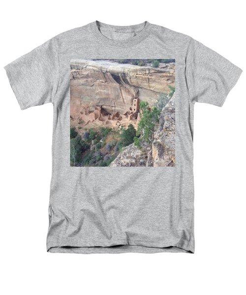 Mesa Verde Colorado Cliff Dwellings 1 Men's T-Shirt  (Regular Fit) by Richard W Linford