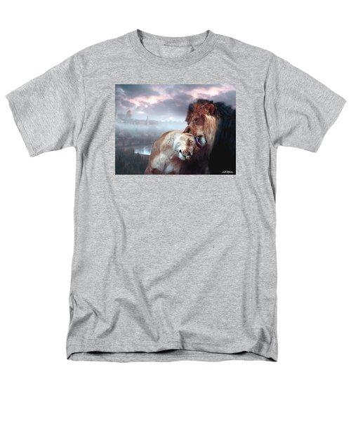 Yeshua Loves Israel Men's T-Shirt  (Regular Fit) by Bill Stephens