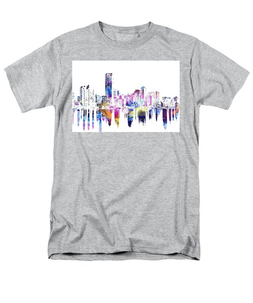 Miami Skyline Men's T-Shirt  (Regular Fit) by Doc Braham