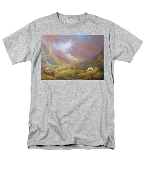 Minas Tirith  War Approaches. Men's T-Shirt  (Regular Fit) by Joe  Gilronan