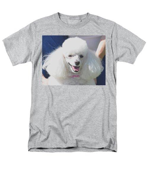 Missy White Poodle Men's T-Shirt  (Regular Fit) by Jay Milo
