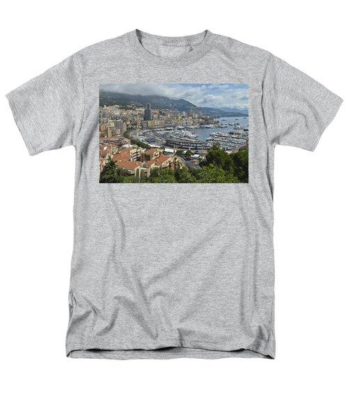 Men's T-Shirt  (Regular Fit) featuring the photograph Monaco Harbor by Allen Sheffield