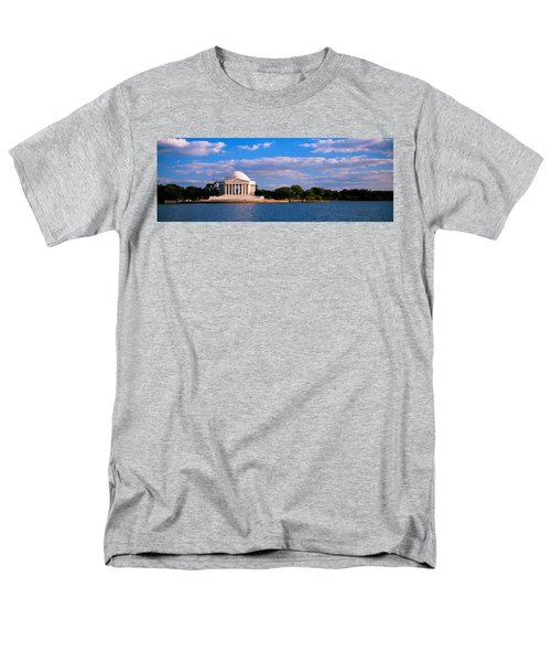 Monument On The Waterfront, Jefferson Men's T-Shirt  (Regular Fit) by Panoramic Images