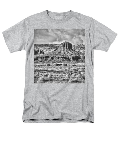 Men's T-Shirt  (Regular Fit) featuring the photograph Monument Valley 7 Bw by Ron White